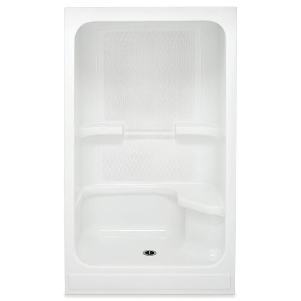 Aquatic Bypass Shower Enclosures item 48ACSL-WH