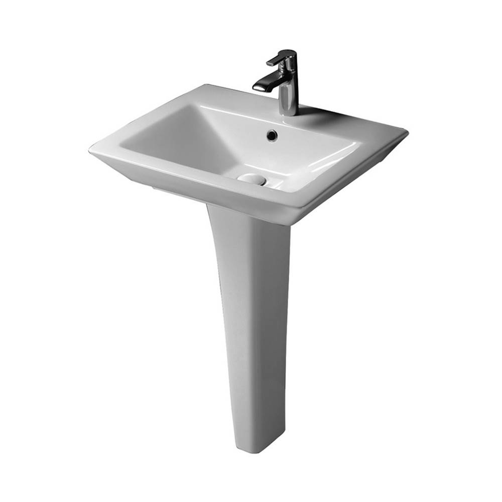 Barclay Complete Pedestal Bathroom Sinks item 3-361WH