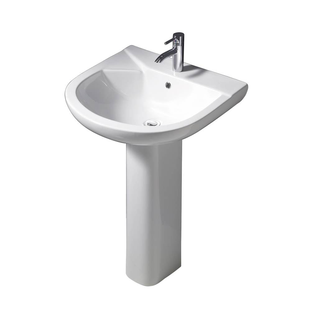 Barclay Complete Pedestal Bathroom Sinks item 3-428WH