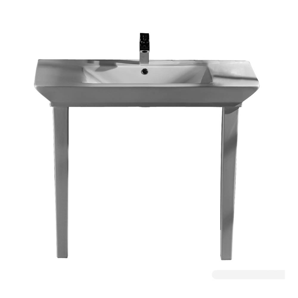 Barclay Lavatory Console Bathroom Sinks item 964WH