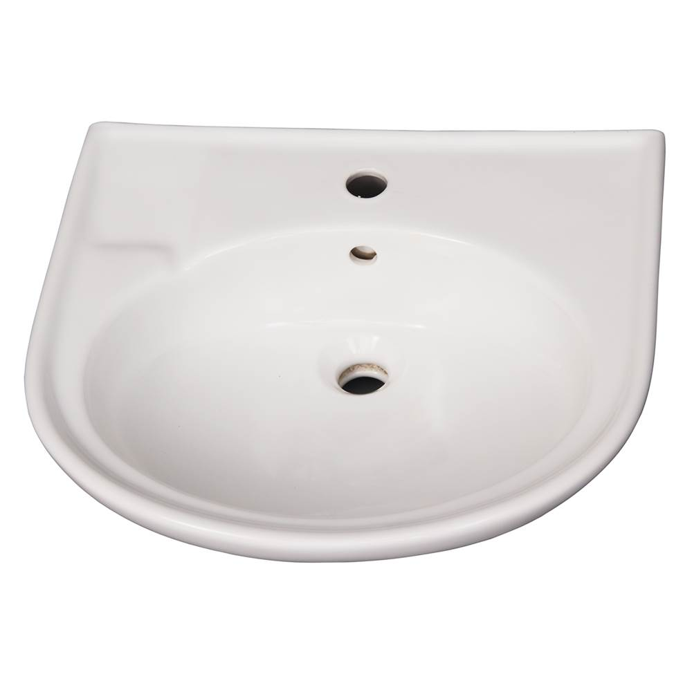 Barclay Vessel Only Pedestal Bathroom Sinks item B/3-171WH