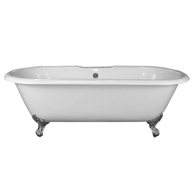 Barclay Clawfoot Soaking Tubs item CTDRN61-WH-SN