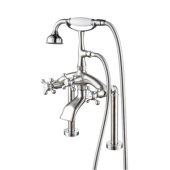 Barclay Deck Mount Roman Tub Faucets With Hand Showers item 4613-MC-BN