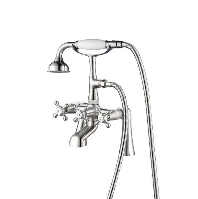 Barclay Deck Mount Roman Tub Faucets With Hand Showers item 4608-MC-BN