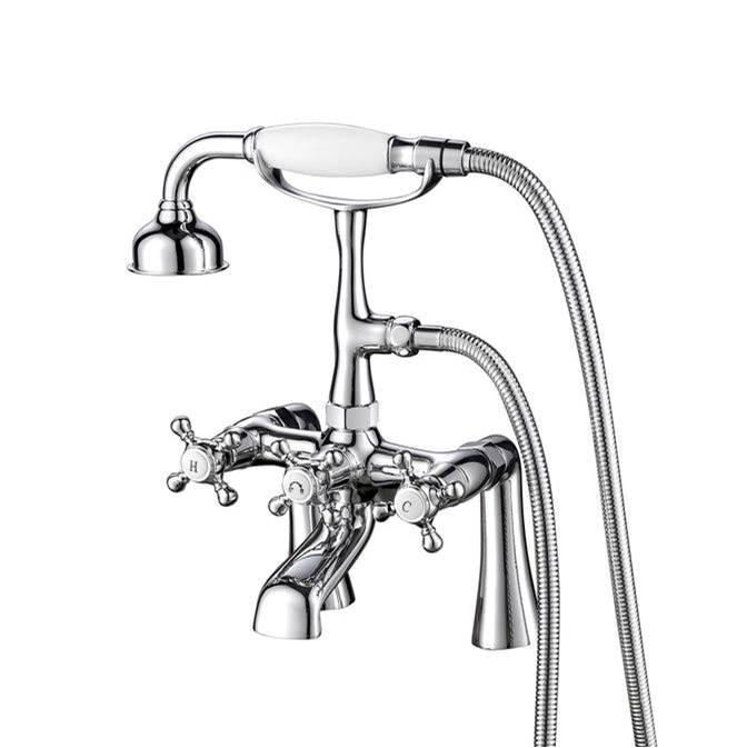 Barclay Deck Mount Roman Tub Faucets With Hand Showers item 4608-MC-CP
