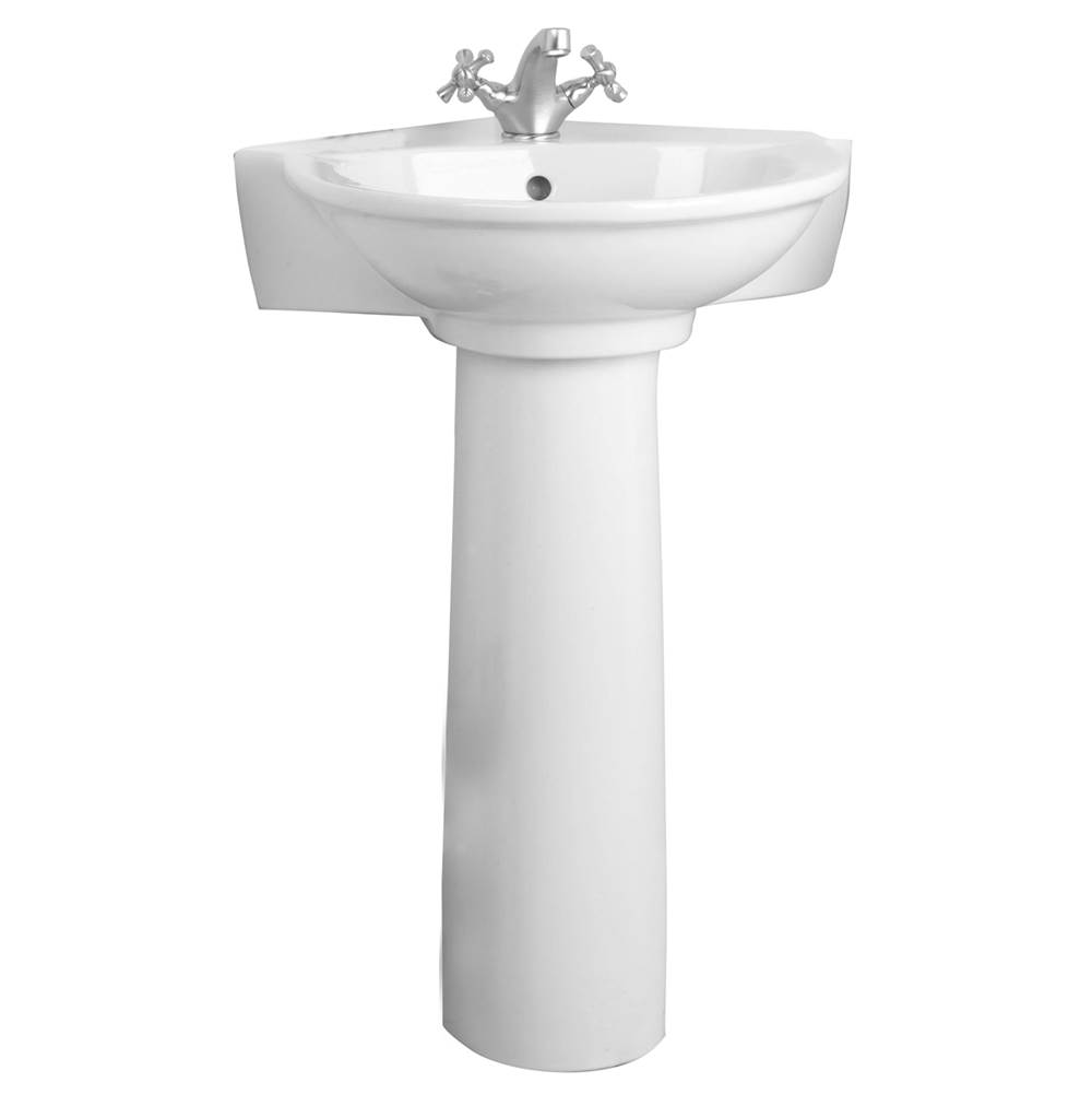 Barclay Pedestal Only Pedestal Bathroom Sinks item C/3-430WH