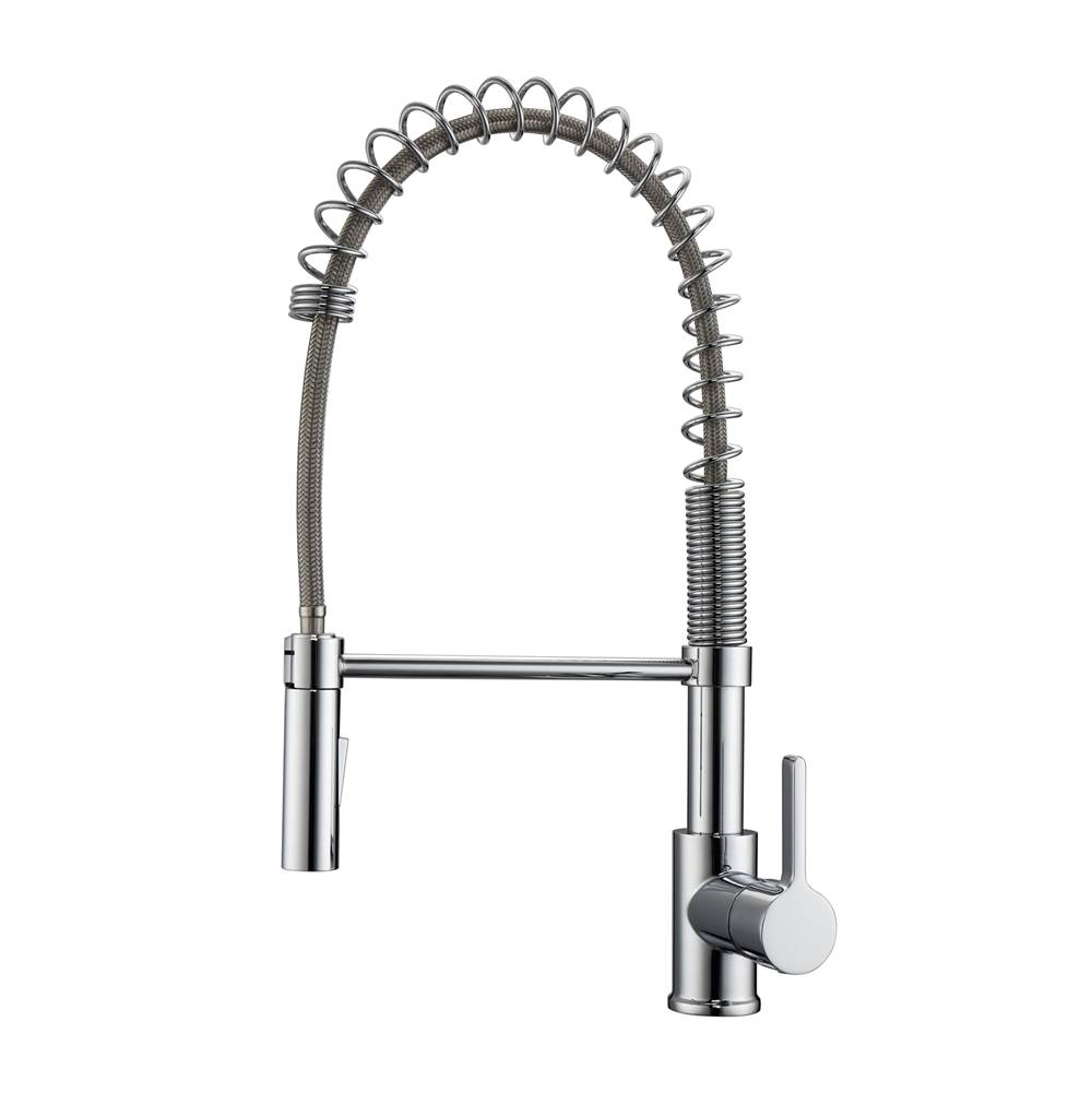Barclay Single Hole Kitchen Faucets item KFS417-L1-CP