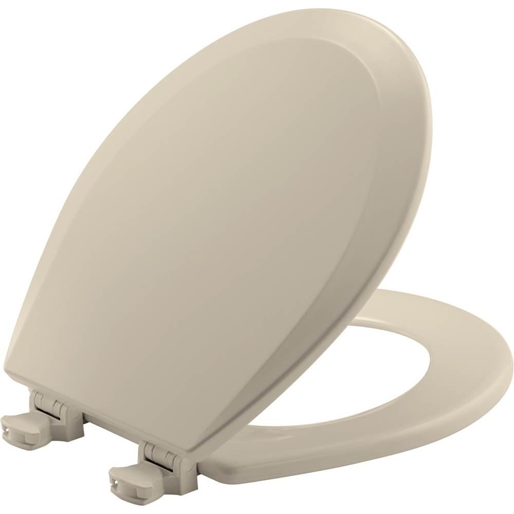 Bemis - 500EC 146 - BEMIS Round Enameled Wood Toilet Seat in Almond with Easy-Clean and Change Hinge