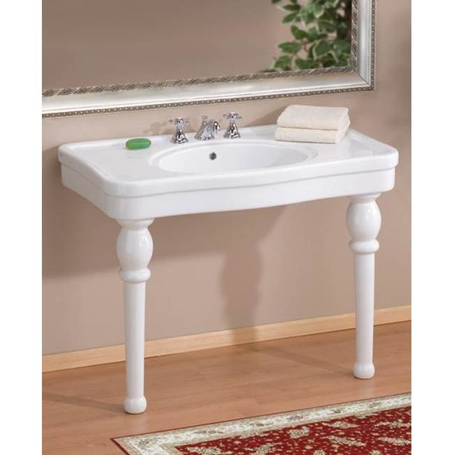 Cheviot Products Lavatory Console Bathroom Sinks item 710-WH-8