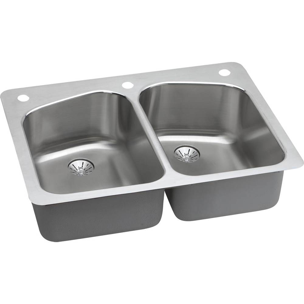 Elkay Undermount Kitchen Sinks item LKHSR33229PD2L