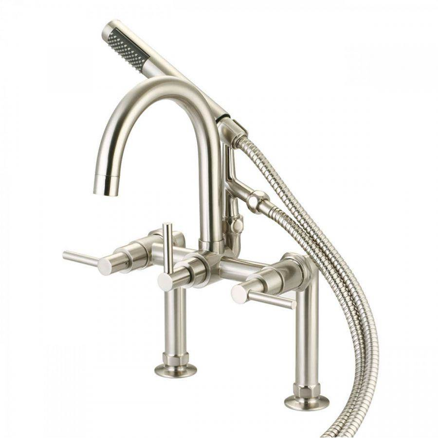 Maidstone Deck Mount Roman Tub Faucets With Hand Showers item 121-GSR3-ML12