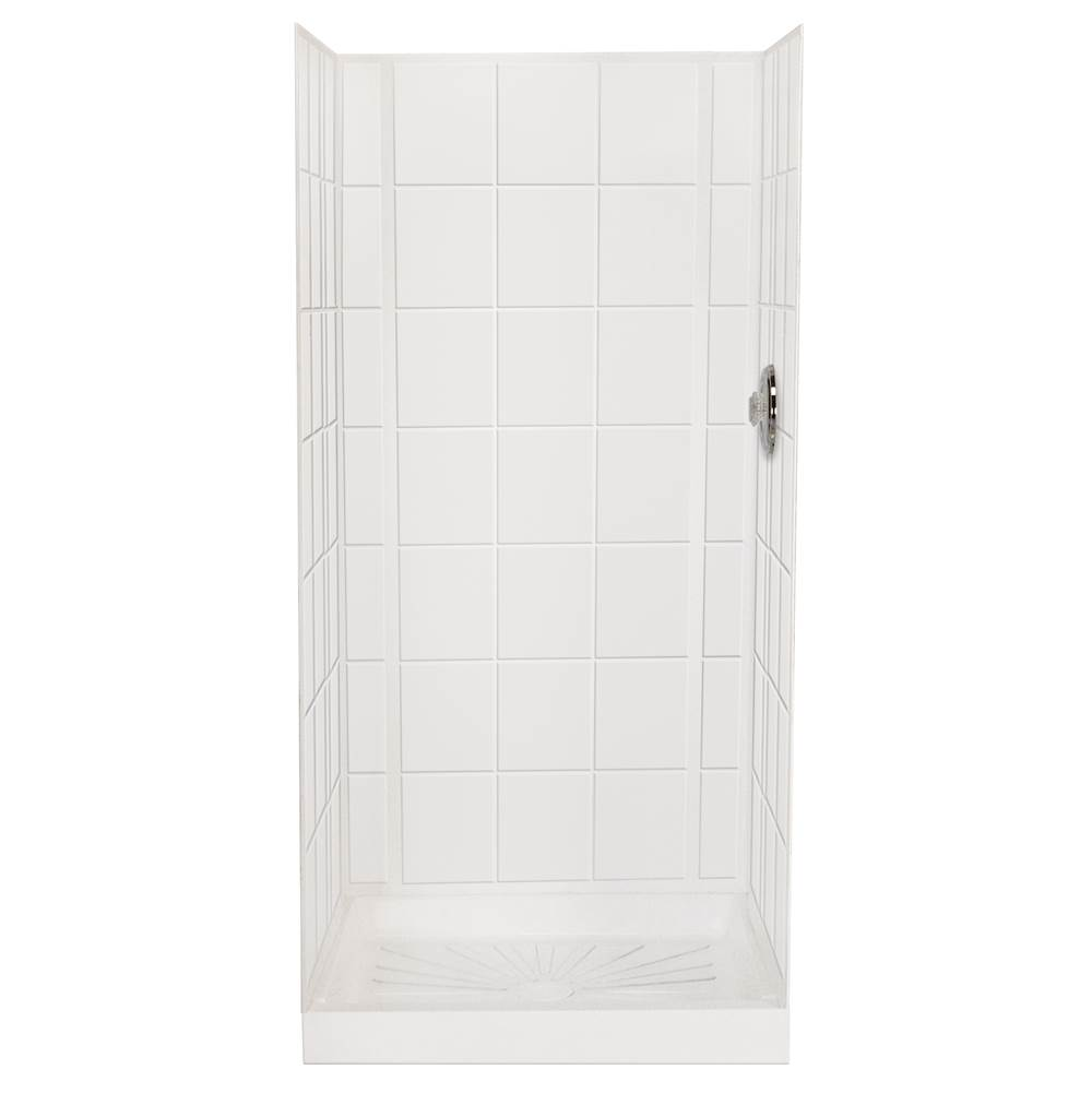 Mustee And Sons Single Wall Shower Enclosures item 557WHT