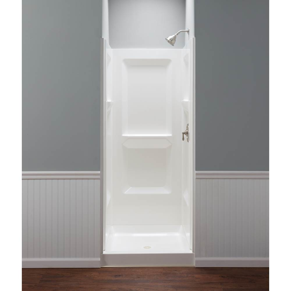 Mustee And Sons Shower Wall Shower Enclosures item 732WHT