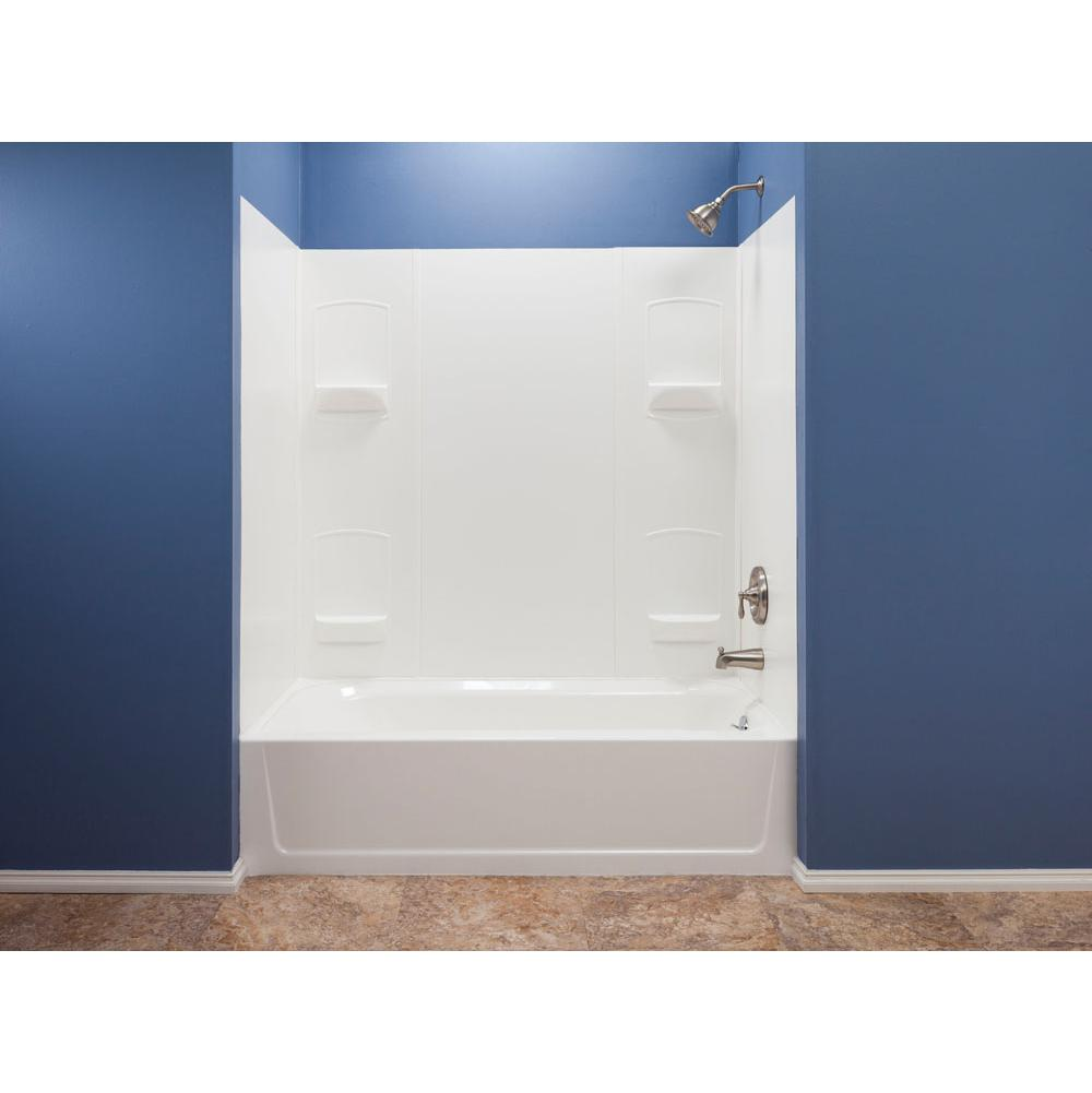 Mustee And Sons Single Wall Shower Enclosures item 952WHT