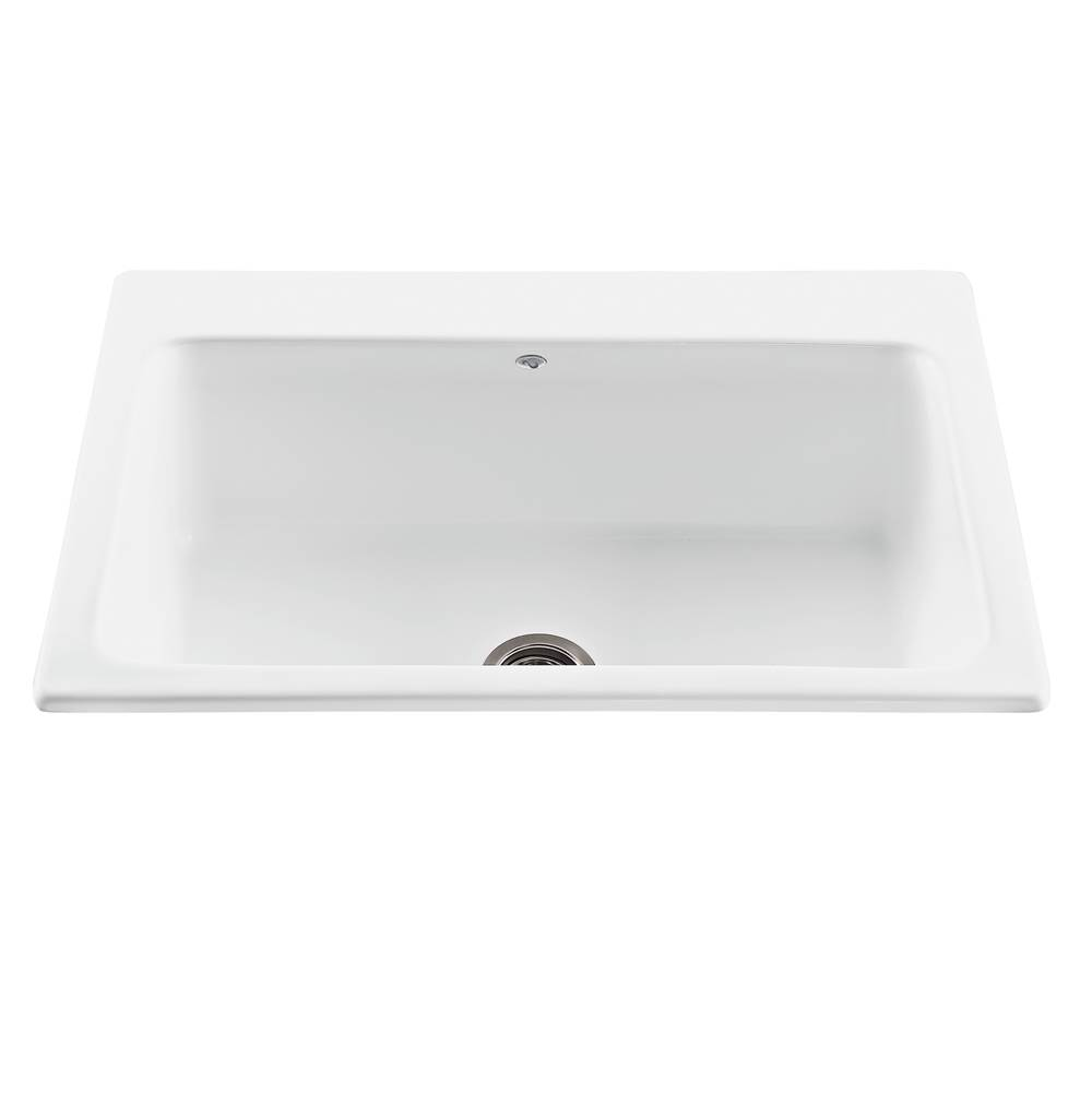 MTI Baths Drop In Kitchen Sinks item MBKS50-WH