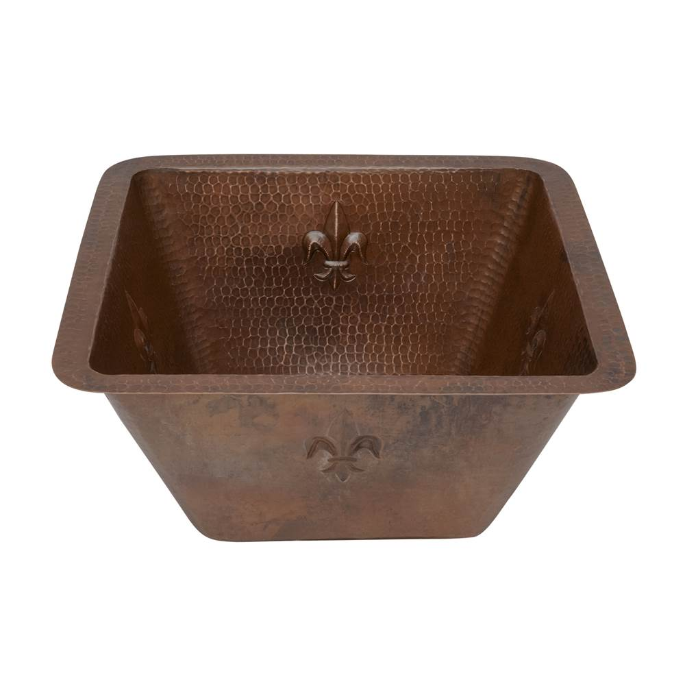 Premier Copper Products Undermount Bar Sinks item BS15FDB2