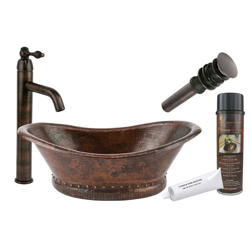 Premier Copper Products  Bathroom Sink And Faucet Combos item BSP1_VBT20DB