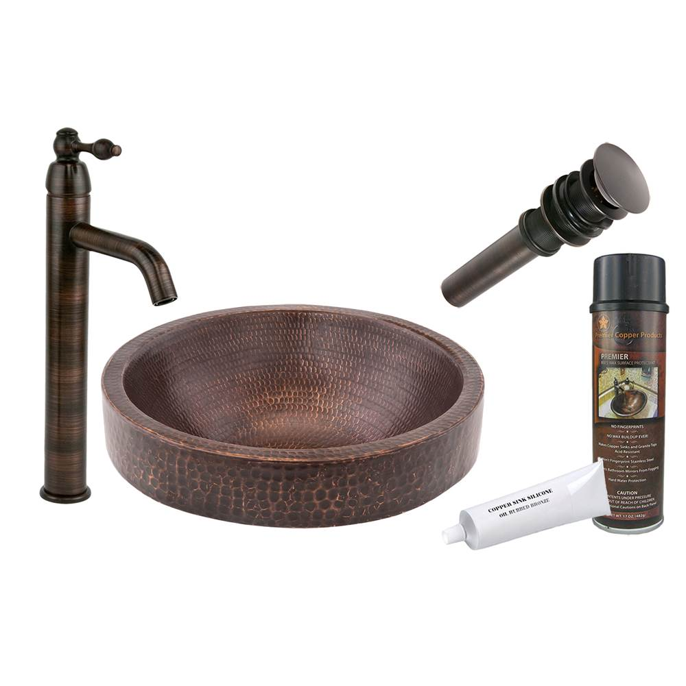 Premier Copper Products  Bathroom Sink And Faucet Combos item BSP1_VR15SKDB