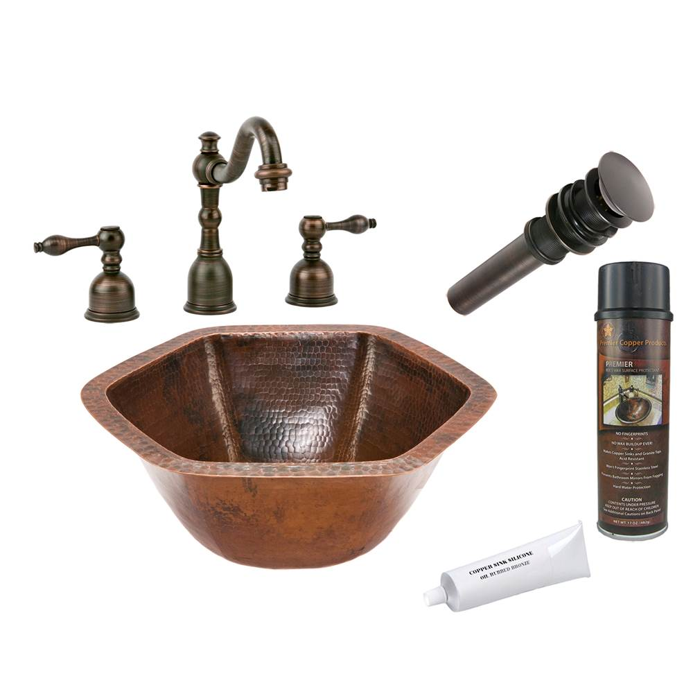 Premier Copper Products  Bathroom Sink And Faucet Combos item BSP2_LH15.5DB