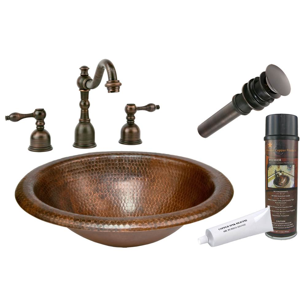 Premier Copper Products  Bathroom Sink And Faucet Combos item BSP2_LO18RDB