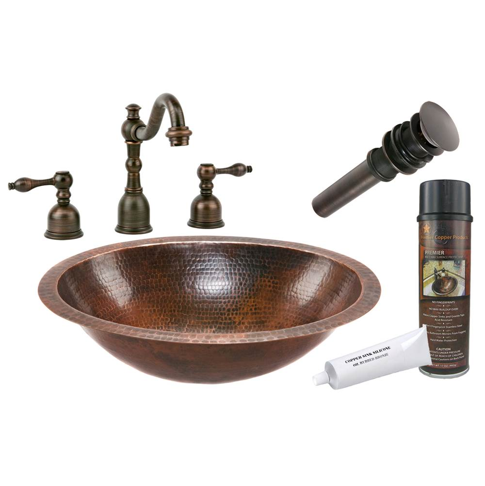 Premier Copper Products  Bathroom Sink And Faucet Combos item BSP2_LO19FDB