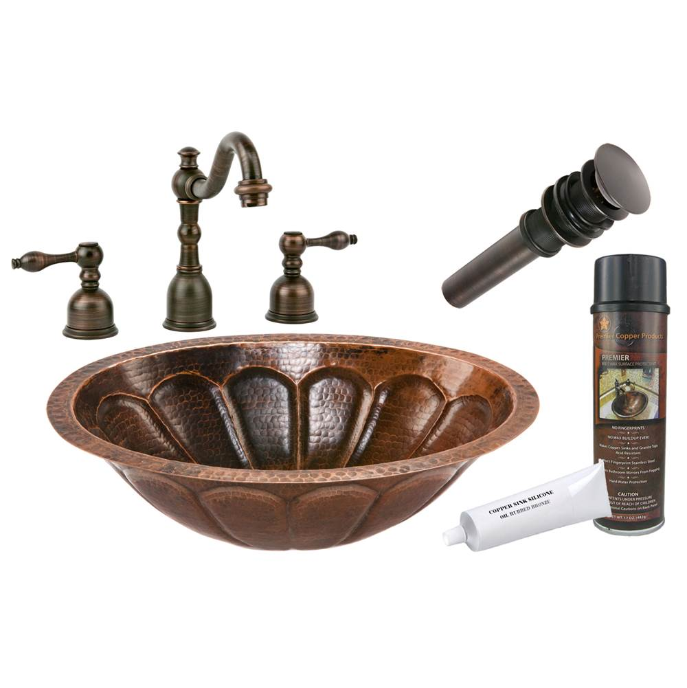 Premier Copper Products  Bathroom Sink And Faucet Combos item BSP2_LO19FSBDB