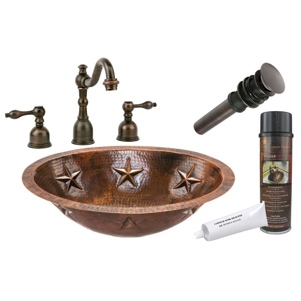 Premier Copper Products  Bathroom Sink And Faucet Combos item BSP2_LO19FSTDB