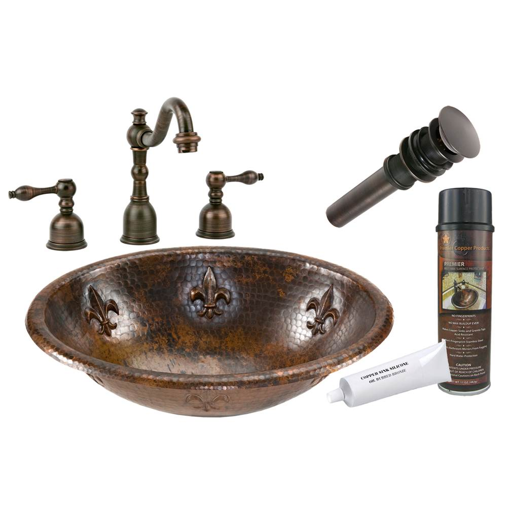 Premier Copper Products  Bathroom Sink And Faucet Combos item BSP2_LO19RFLDB