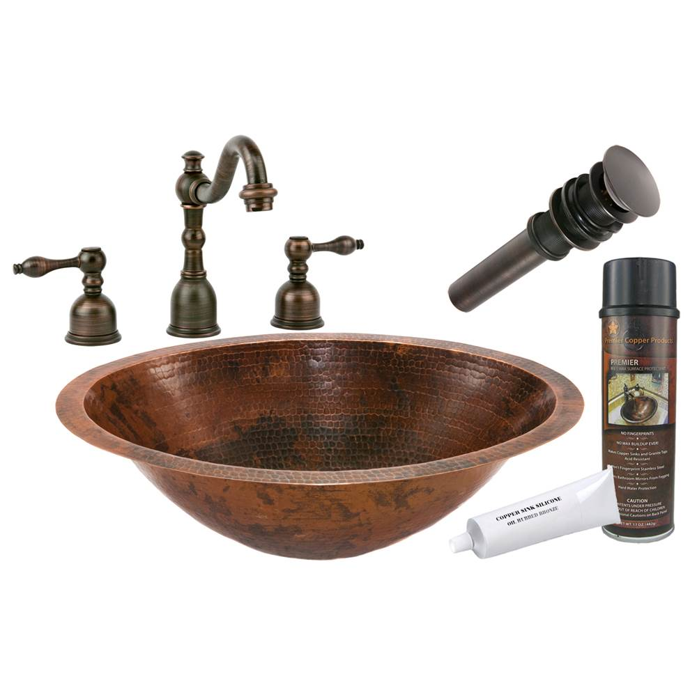 Premier Copper Products  Bathroom Sink And Faucet Combos item BSP2_LO20FDB