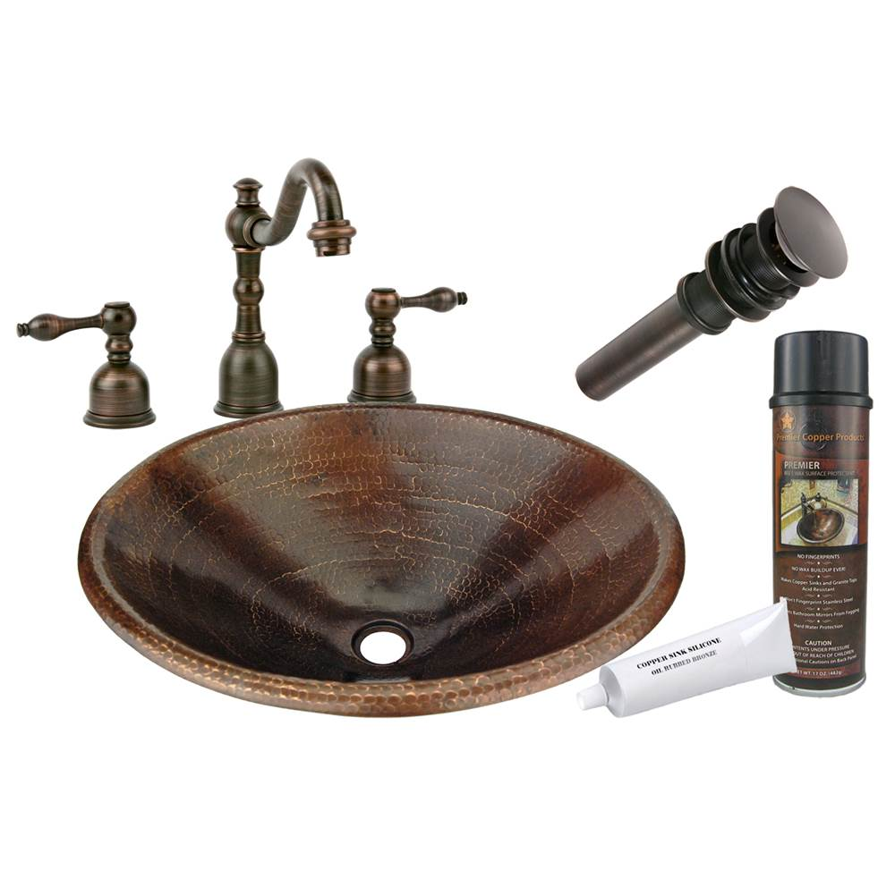 Premier Copper Products  Bathroom Sink And Faucet Combos item BSP2_LO20RDB