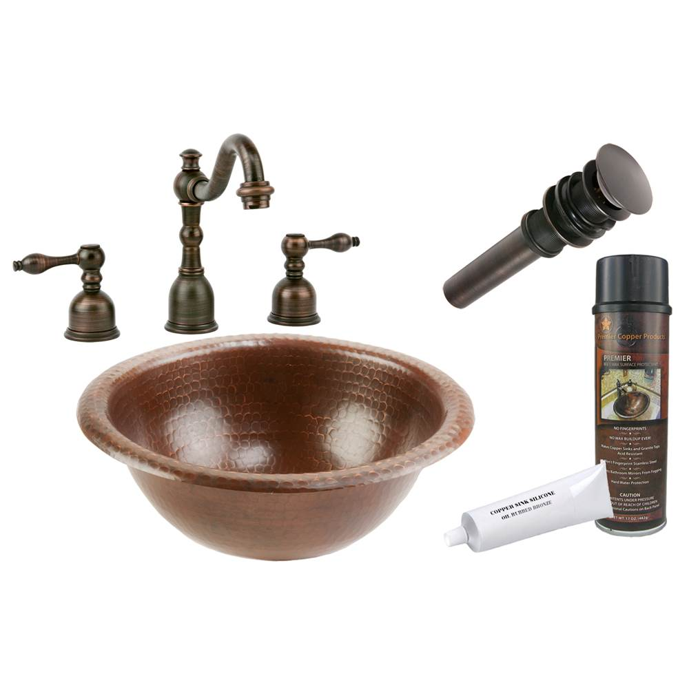 Premier Copper Products  Bathroom Sink And Faucet Combos item BSP2_LR12RDB