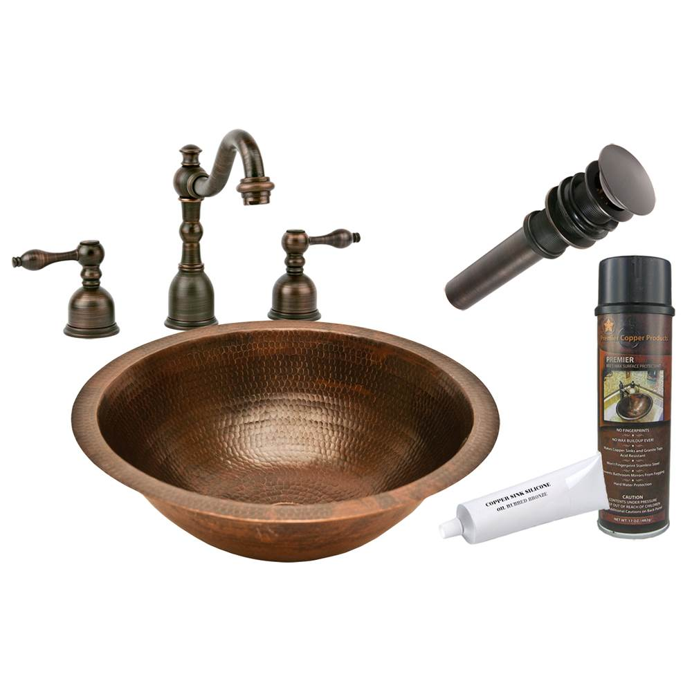 Premier Copper Products  Bathroom Sink And Faucet Combos item BSP2_LR17FDB