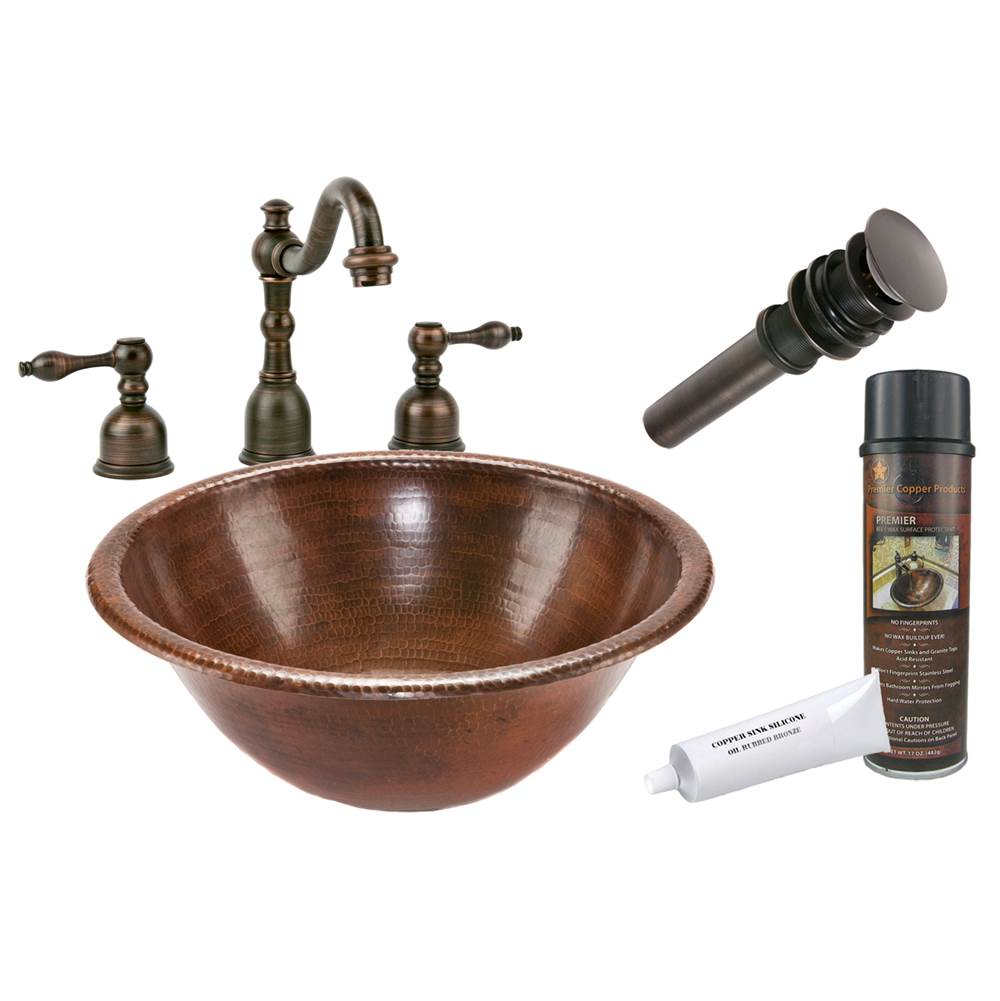 Premier Copper Products  Bathroom Sink And Faucet Combos item BSP2_LR17RDB