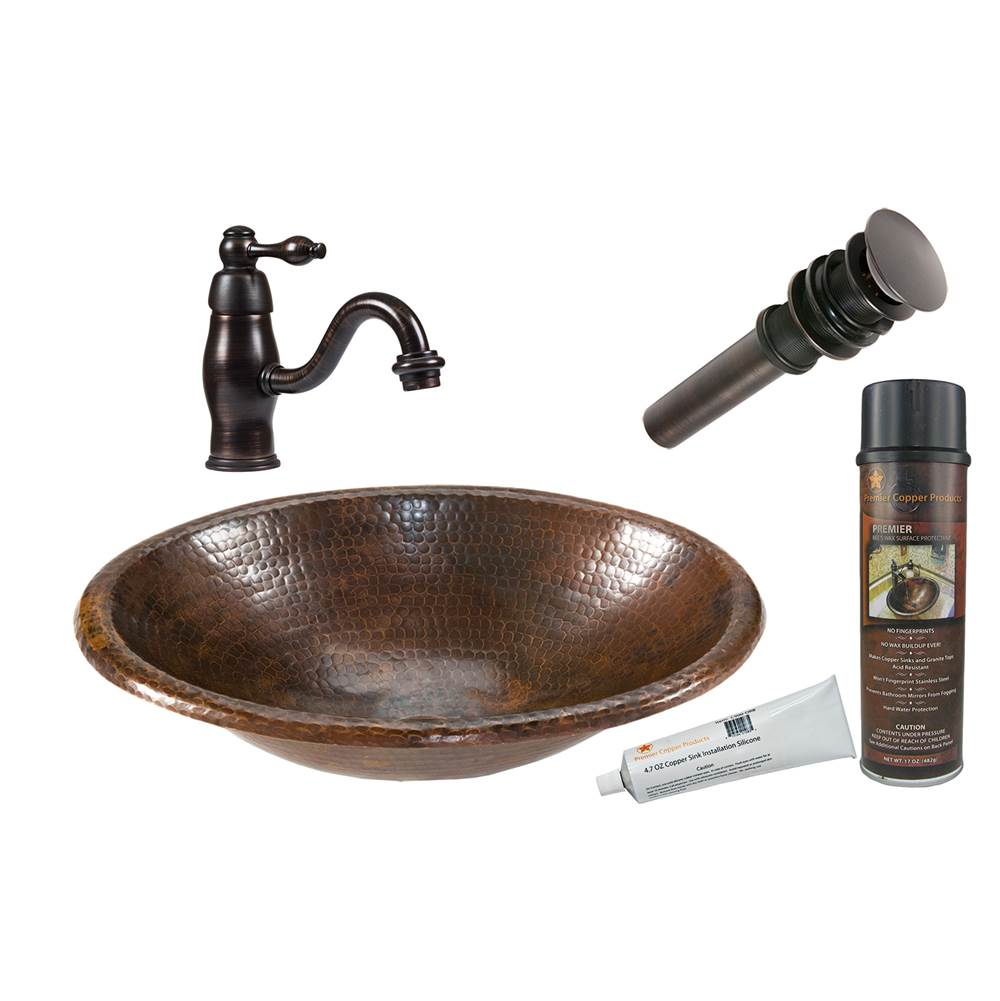 Premier Copper Products  Bathroom Sink And Faucet Combos item BSP3_LO17RDB