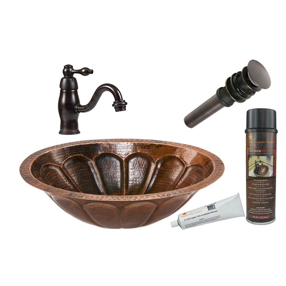 Premier Copper Products  Bathroom Sink And Faucet Combos item BSP3_LO19FSBDB