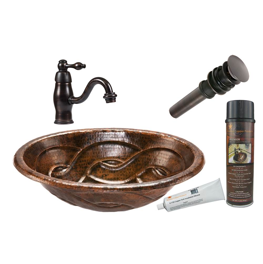 Premier Copper Products  Bathroom Sink And Faucet Combos item BSP3_LO19RBDDB