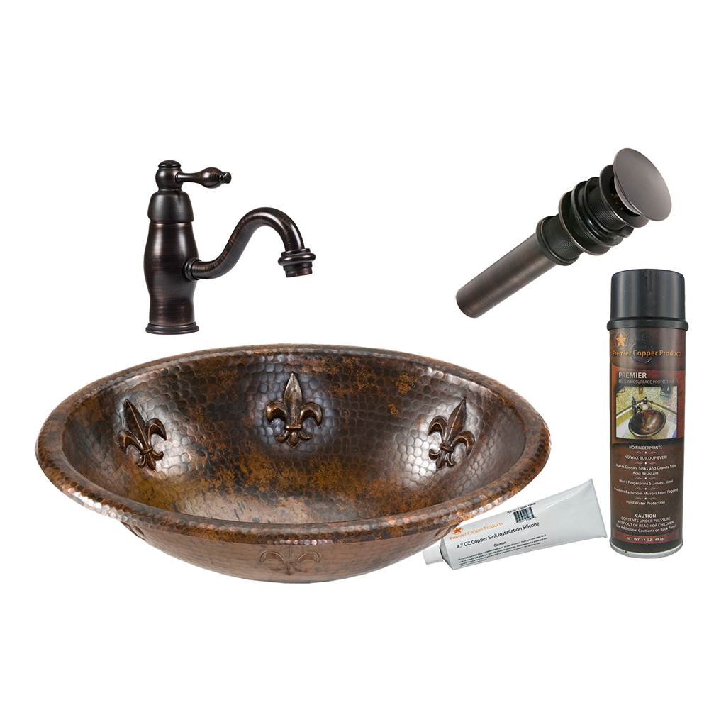 Premier Copper Products  Bathroom Sink And Faucet Combos item BSP3_LO19RFLDB