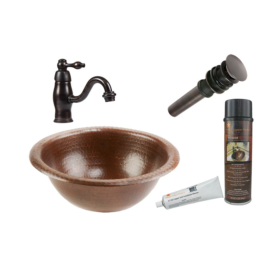 Premier Copper Products  Bathroom Sink And Faucet Combos item BSP3_LR12RDB