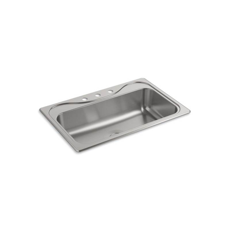 Sterling Plumbing Drop In Kitchen Sinks item F24912-3-NA